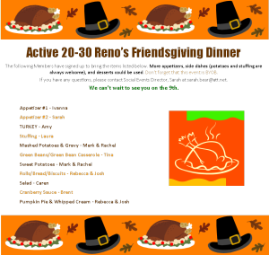 Friendsgiving Menu